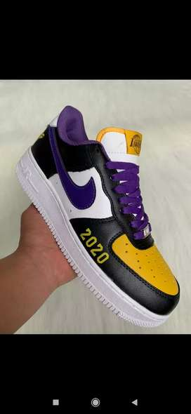 Tenis Nike Air forcé one Lakers 2020 caballero