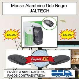 Mouse Alambrico Usb Negro JALTECH