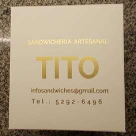 Vedndo Fondo de Comercio Sandwicheria Tito, Es Dedivery de Comida Rápida.