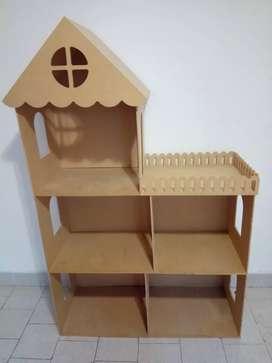 Casa de muñeca en Fibrofácil