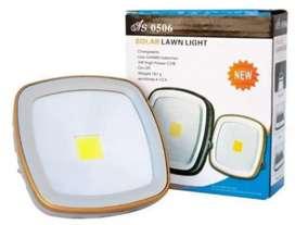 Lampara linterna con luz led portátil recargable con panel solar eléctrica as0506 con cargador de celular puerto usb 5v