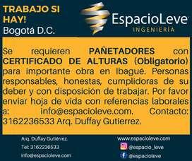 PAÑETADORES con CERTIFICADO DE ALTURAS
