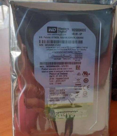 DISCO DURO WESTERN DIGITAL 500GB NUEVO PC 0