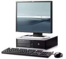 Oferta pc hp core 2 duo ddr2 con monitor 17 teclado masuo garantía 6 meses
