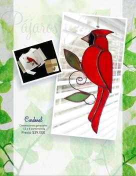 Arte y decoración: Bellísimos Pájaros en vitral técnica tiffany o encintado en cobre