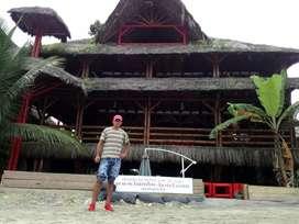 Construimos cabañas de bambú