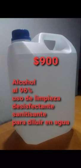 Alcohol etilico al 96% a,$900