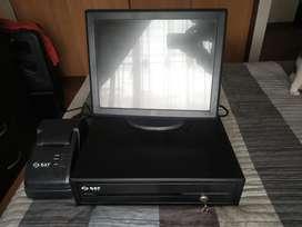 Monitor POS ELO 1515l + cajon monedero e impresora SAT