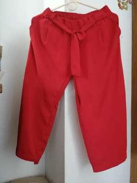Pantalón Rojo Studio F 8 tela