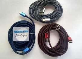 Vendo cable USB de 3 metros cargador y datos Micro USB celulares