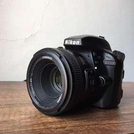 Cámara Nikon d3300 con lente 50mm y 18-55mm