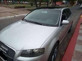 Audi TFSI S LINE 2 lt, modelo 2008, asientos de cuero, doble techo SOLAR, climatizador 160.000