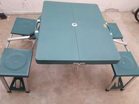 mesa de camping 4 banquetas
