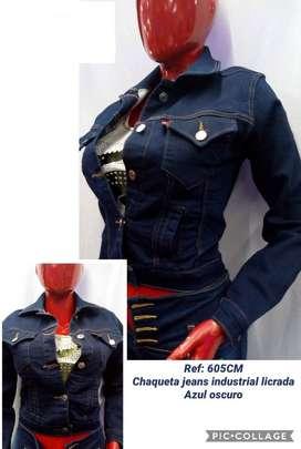 Chaqueta de jeans clasico de mujer