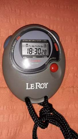 RELOJ CRONOMETRO LE ROY DIGITAL FUNCIONES PRECISIÓN. IMPECABLE