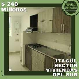 COD: V1017 apartamento en venta con EXCELENTES ESPACIOS Y UNA VISTA ÚNICA en Itagüi chimeneas