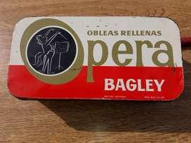Antigua Lata Coleccion Galletitas Bagley Opera!!