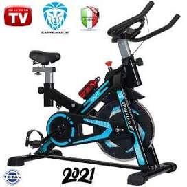 Bicicleta Estática TV Spinning Gimnasio, Eliptica, Ajustable, Sports, Modelo 2021