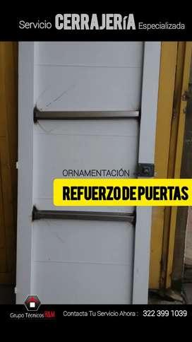 Ornamentadores en Madrid Cundinamarca, Puertas de Seguridad, Refuerzo de Puertas, Servicio de Ornamentación, Cerrajería