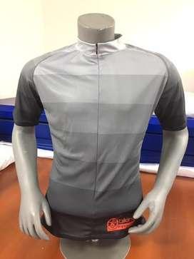 Camiseta de ciclismo Gama de grises