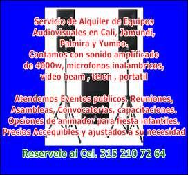 ALQUILER DE EQUIPOS DE SONIDO Y AUDIVISUALES