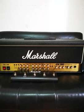 Cabezal Amplificador de guitarra Marshall jcm 2000 tsl 100 con pedal