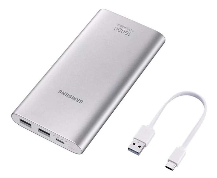 Batería Recargable SAMSUNG 10.000 mAh USB -C Gris Tipo C Carga rapida
