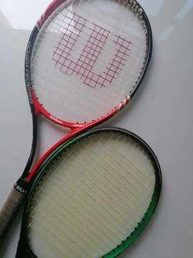 Se venden raquetas de tenis
