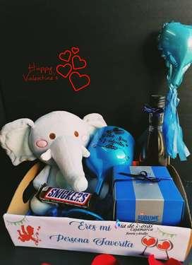 detalles , globos personalizados , copa gin y mucho más para san valentin