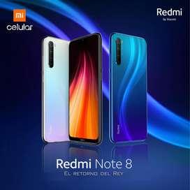 REDMI NOTE 8  (XIAOMI) 4/64 GB (NUEVO, CAJA SELLADA)