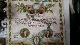 Pañuelo de seda del Centenario de la República Argentina
