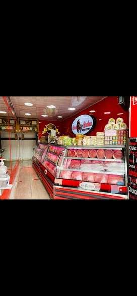 Venta de carnicería excelente ubicación buenas ventas totalmente equipada y muy bien adecuada