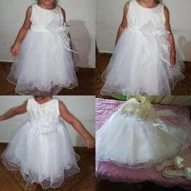 Oferta Unica Vestido de Gala Niña