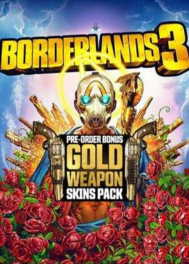 BORDERLANDS 3 JUEVO NUEVO SELLADO INCLUYE WEAPONS GOLD PACK