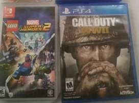Juego ps4 switch Lego marvel y call of duty ww2