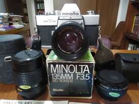 CAMARA FOTOGRAFICA MINOLTA (JAPAN) SRT101 OPERATIVA  3 LENTES