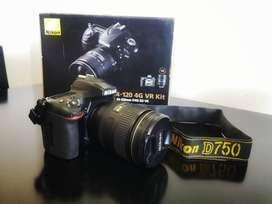 Cámara  Nikon D750 24-120mm VR Kit DSLR color negro ¡Impecable!