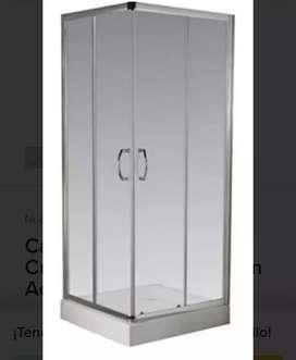 Cabina de baño ferrum con receptáculo incluido