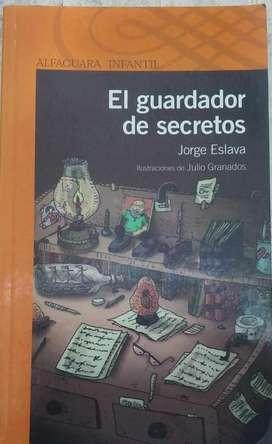 Vendo libro El guardador de secretos de Jorge Eslava