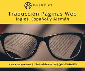 Traduccion de Paginas Web English - Deutsch - Español