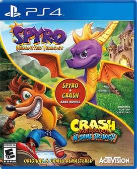 Crash Bandicoot insane triology y spyro reignited triology ps4