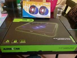 Cooler Airboom  de notebook + parlantes micronics nuevos