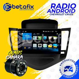 RADIO ANDROID PARA CHEVROLET CRUZE 2008/14 GPS BT USB WIFI BETAFIX DESDE