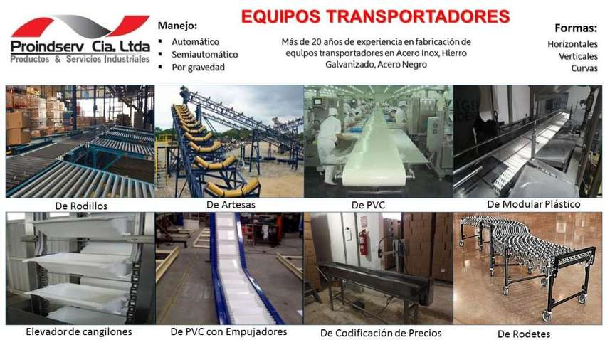 Fabricacion Equipos Transportadores, Forrado de Rodillo, Reparación de Bandas, Servicios de Vulcanizado