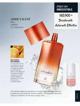 Perfume Adrenaline y Cielo de dama, Yanbal