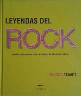 Libro LEYENDAS DEL ROCK (Nuevo) de Ernesto Assante. 50 años de Rock