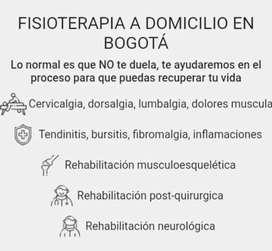 Fisioterapia y rehabilitación de paciente con cervicalgia,dorsalgia ,lumbargia,dolores musculares tendinitis ,bursitis ,