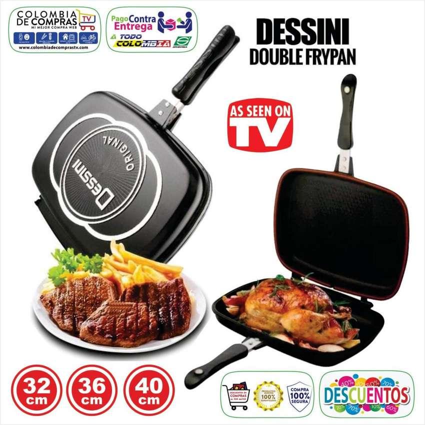 Sartén Doble Parrilla TV De 32 cms, 36 cms y 40 cms, Antiadherente, Tecnologia Italiana, Nuevos, Garantizados 0