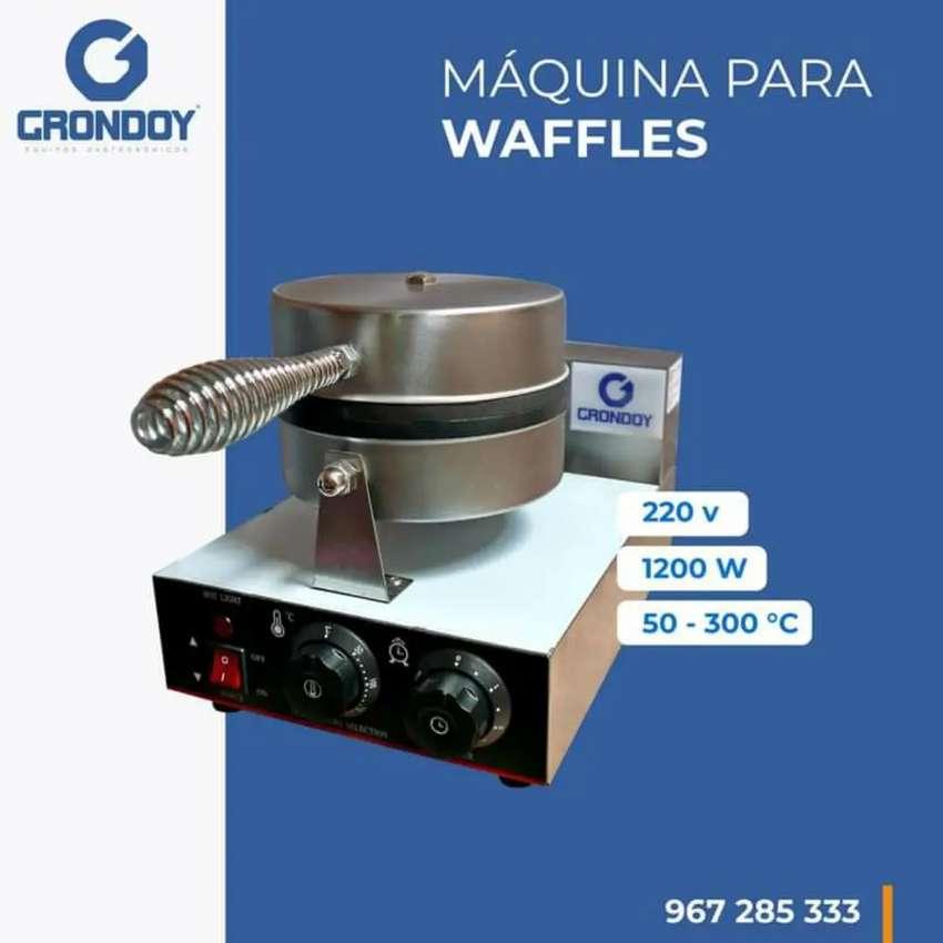 Máquina Waflera Industrial Eléctrica, Wafles panini dulce, 0