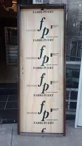 Puertas placa con marco de chapa